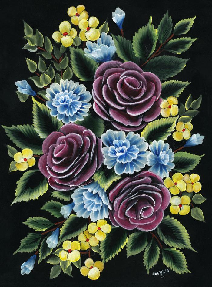 Fiori-floreale-natura-Quadro-su-tela-sassari